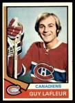 1974 Topps #232  Guy Lafleur  Front Thumbnail
