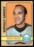 1972 Topps #31  Roger Crozier  Front Thumbnail