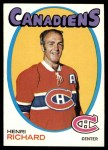 1971 Topps #120  Henri Richard  Front Thumbnail