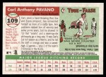 2004 Topps Heritage #109  Carl Pavano  Back Thumbnail