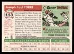 2004 Topps Heritage #113  Joe Torre  Back Thumbnail