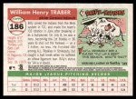 2004 Topps Heritage #186  Billy Traber  Back Thumbnail