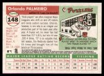 2004 Topps Heritage #148  Orlando Palmeiro  Back Thumbnail