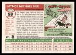 2004 Topps Heritage #58  Laynce Nix  Back Thumbnail
