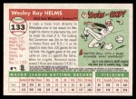 2004 Topps Heritage #133  Wes Helms  Back Thumbnail