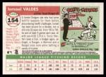 2004 Topps Heritage #154  Ismael Valdes  Back Thumbnail