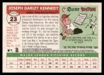 2004 Topps Heritage #23  Joe Kennedy  Back Thumbnail