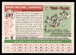 2004 Topps Heritage #197  Brian Lawrence  Back Thumbnail