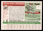 2004 Topps Heritage #187  Jason Jennings  Back Thumbnail