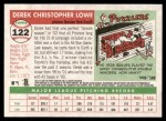 2004 Topps Heritage #122  Derek Lowe  Back Thumbnail