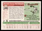 2004 Topps Heritage #140  Corey Patterson  Back Thumbnail