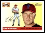 2004 Topps Heritage #93  Tim Worrell  Front Thumbnail