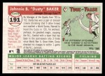 2004 Topps Heritage #191  Dusty Baker  Back Thumbnail