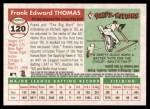 2004 Topps Heritage #120 NEW Frank Thomas   Back Thumbnail