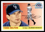 2004 Topps Heritage #70 WHI Todd Helton   Front Thumbnail