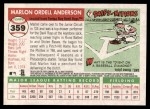2004 Topps Heritage #359  Marlon Anderson  Back Thumbnail