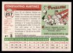 2004 Topps Heritage #217  Tino Martinez  Back Thumbnail