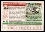 2004 Topps Heritage #388  Francisco Cordero  Back Thumbnail