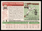 2004 Topps Heritage #384  Cristian Guzman  Back Thumbnail