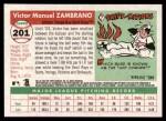 2004 Topps Heritage #201  Victor Zambrano  Back Thumbnail