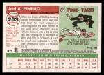 2004 Topps Heritage #203  Joel Pineiro  Back Thumbnail