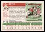 2004 Topps Heritage #232  Felipe Lopez  Back Thumbnail