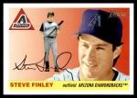 2004 Topps Heritage #327  Steve Finley  Front Thumbnail