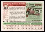 2004 Topps Heritage #387  Greg Myers  Back Thumbnail