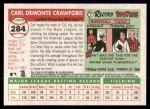 2004 Topps Heritage #284  Carl Crawford  Back Thumbnail