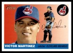 2004 Topps Heritage #287  Victor Martinez  Front Thumbnail