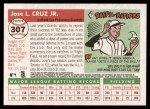 2004 Topps Heritage #307  Jose Cruz Jr.  Back Thumbnail