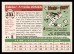 2004 Topps Heritage #231  Esteban Loaiza  Back Thumbnail