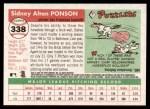 2004 Topps Heritage #338  Sidney Ponson  Back Thumbnail
