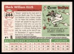 2004 Topps Heritage #244  Mark Ellis  Back Thumbnail