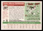 2004 Topps Heritage #297  Carlos Zambrano  Back Thumbnail