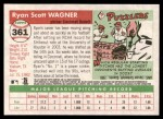 2004 Topps Heritage #361 NEW Ryan Wagner   Back Thumbnail
