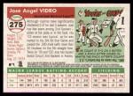 2004 Topps Heritage #275  Jose Vidro  Back Thumbnail