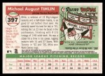 2004 Topps Heritage #397  Mike Timlin  Back Thumbnail