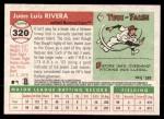 2004 Topps Heritage #320  Juan Rivera  Back Thumbnail