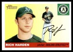 2004 Topps Heritage #370  Rich Harden  Front Thumbnail
