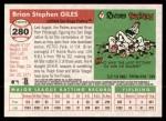 2004 Topps Heritage #280  Brian Giles  Back Thumbnail