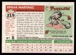 2004 Topps Heritage #219  Edgar Martinez  Back Thumbnail