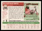 2004 Topps Heritage #295  Russ Ortiz  Back Thumbnail