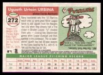 2004 Topps Heritage #272  Ugueth Urbina  Back Thumbnail