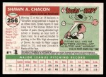 2004 Topps Heritage #256  Shawn Chacon  Back Thumbnail