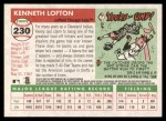 2004 Topps Heritage #230  Kenny Lofton  Back Thumbnail