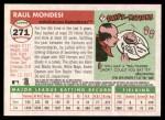2004 Topps Heritage #271  Raul Mondesi  Back Thumbnail