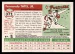 2004 Topps Heritage #371  Fernando Tatis  Back Thumbnail