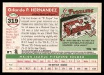 2004 Topps Heritage #319  Orlando Hernandez  Back Thumbnail