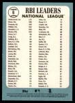 2014 Topps Heritage #6   -  Freddie Freeman / Jay Bruce / Paul Goldschmidt NL RBI Leaders Back Thumbnail